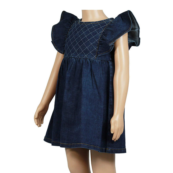 Olele® Girls Denim Ruffle Dress