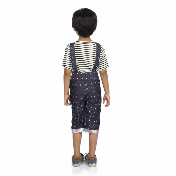 Olele® Printed Dungaree and Jumpsuit for Boys
