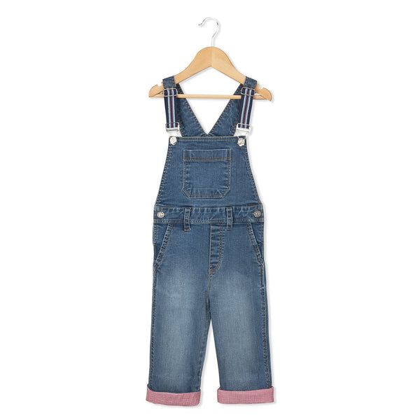 Olele® Denim Dungarees with Blue Elastic Strape for Boys