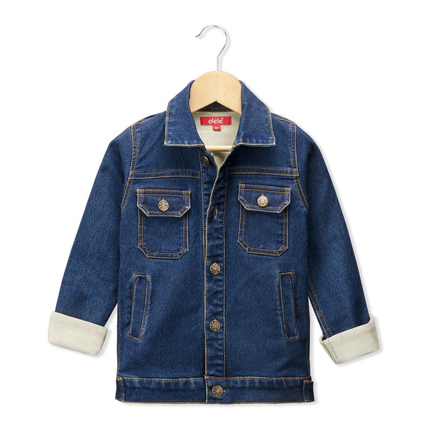 Olele® Full Sleeve Classic Denim Jackets for Girls