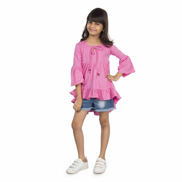 Olele® Girls High-Low Dress - Baby Pink