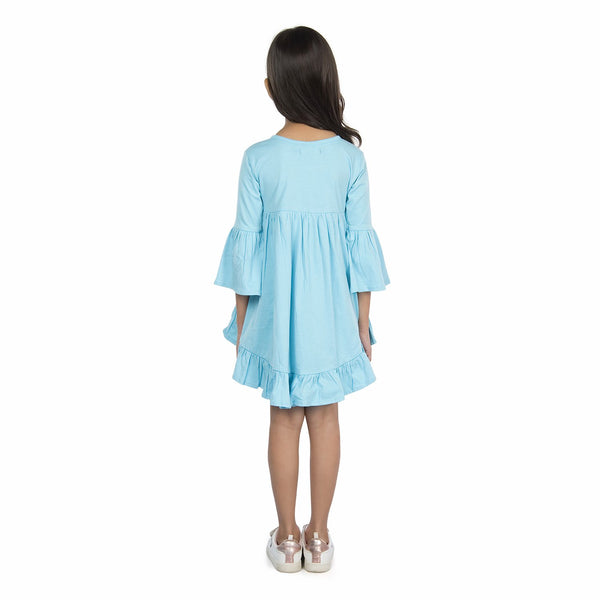 Olele® Girls High-Low Dress - Acqua Blue