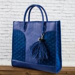 Leather Bag - Blue