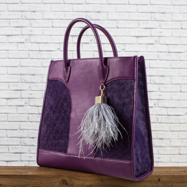 Leather Bag - Purple