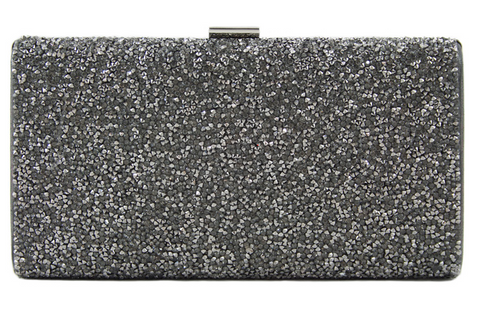 GREY SPARKLE CLUTCH
