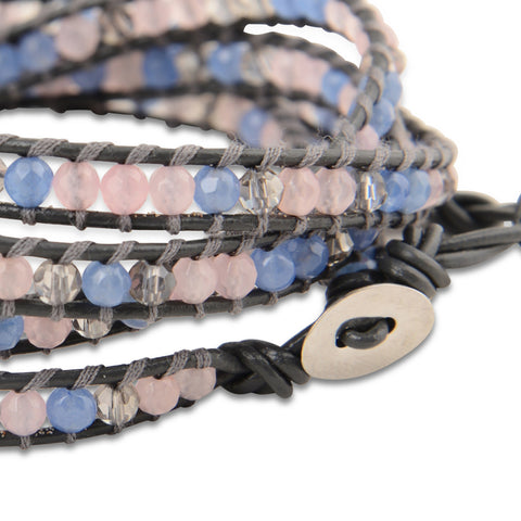 PASTEL CRUSH CRYSTAL WRAP BRACELET