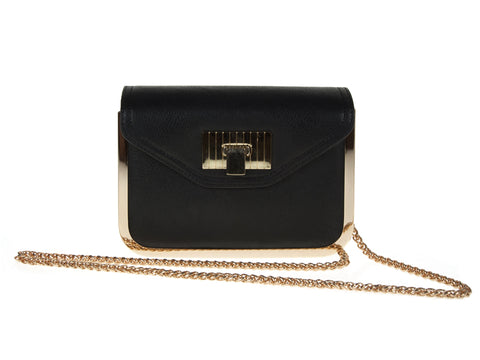 BLACK LONG CHAIN HANDBAG