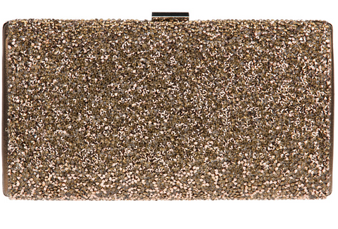 BRONZE SPARKLE CLUTCH