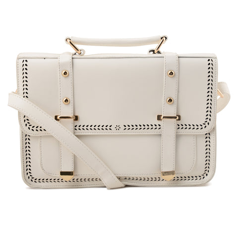 WHITE CUT DETAIL SATCHEL