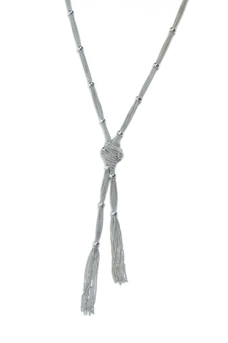 ANTIQUE SILVER KNOT CHAIN NECKLACE