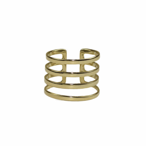 GOLD MULTI-BAND RING