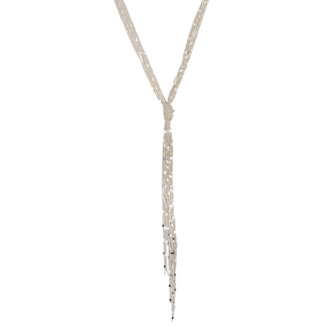SILVER MIRRORED KNOT NECKLACE