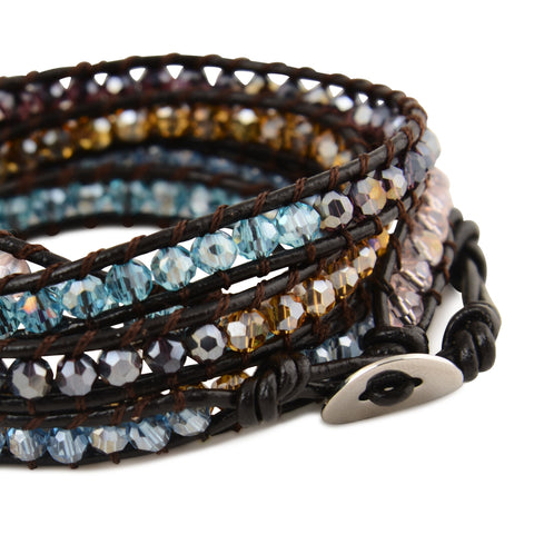 RAINBOW CRYSTAL WRAP BRACELET