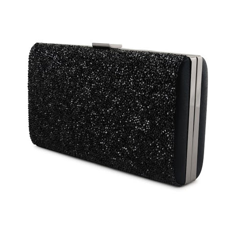 BLACK SPARKLE CLUTCH