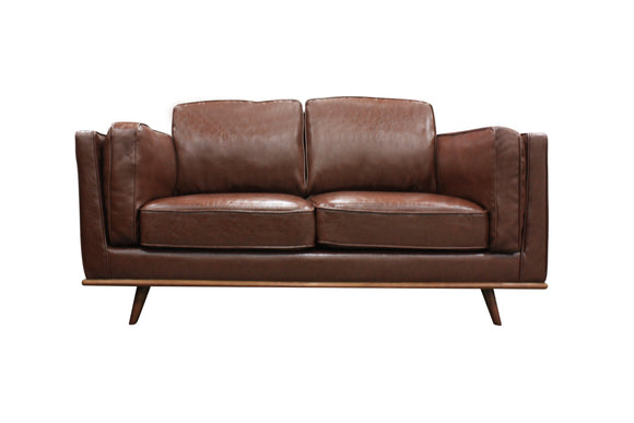 York Faux Leather 2 Seater Loveseat