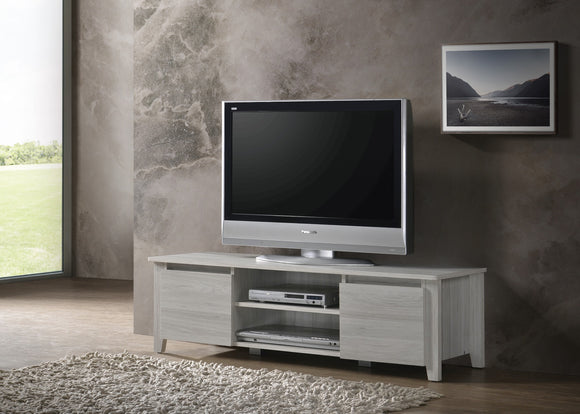Modern TV Entertainment Unit White Oak 120cm