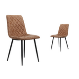 Pair of Retro Faux Leather Dining Chairs