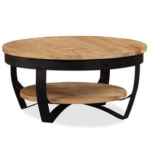 Coffee Table 65 cm Solid Rough Mango Wood