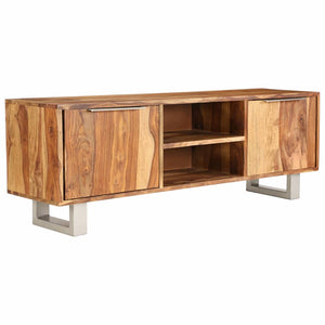 TV Cabinet Solid Sheesham Wood with Honey Finish 118x30x40 cm