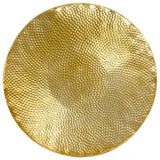 Coffee Table Hammered Aluminium 70x30 cm Brass