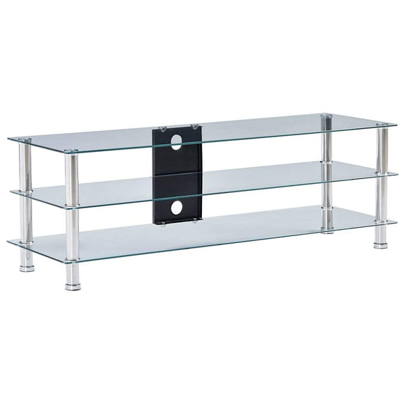 TV Stand Transparent 120x40x40 cm Tempered Glass