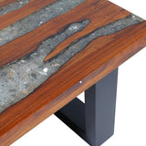 Teak and Resin Coffee Table