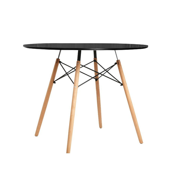 Replica Eames Round Dining Table Black