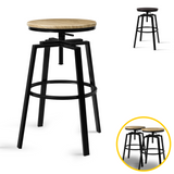 💎 Set of Two Industrial Style Kitchen Swivel Bar Stool