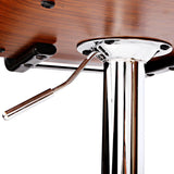Luxury Wooden Gas Lift Bar Stools
