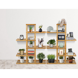'Arbre Unique' Bamboo Plant Shelves