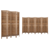 Rustic Room Divider Privacy Screen Brown (4 or 8 Panel)