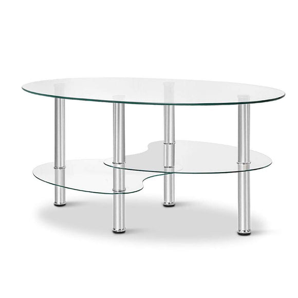 3 Tier Coffee Table - Glass