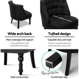 Pintuck Accent Chair with Decorative Legs Black