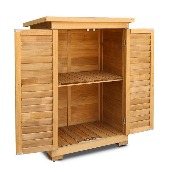 💎 Fir Wood Garden Storage Cabinet