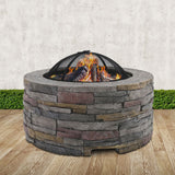 Faux Stone Round Firepit