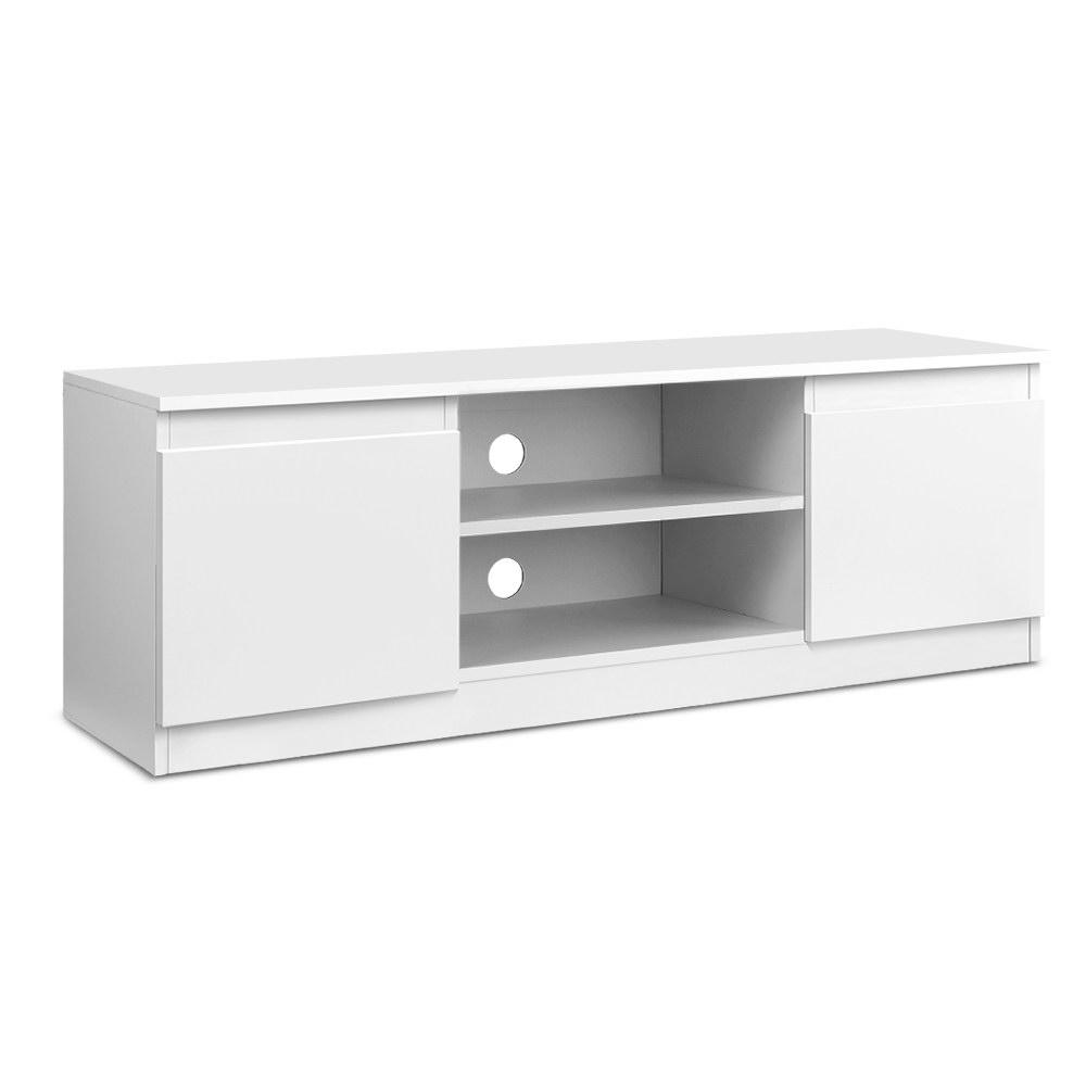 Minimal Tv Stand Entertainment Unit With Storage 120cm Clarke Trade