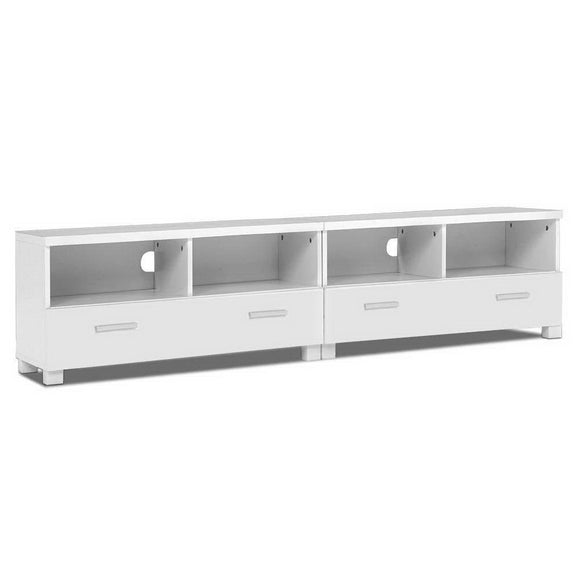 TV Stand Entertainment Unit with Drawers - White