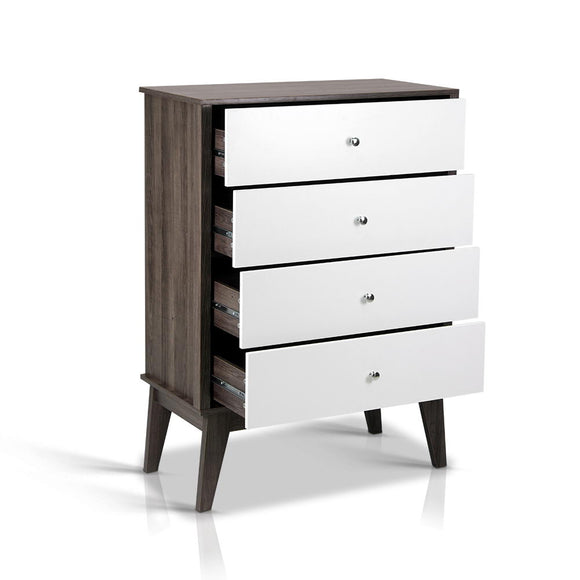 Scandinavian Two Tone Chest of Drawers