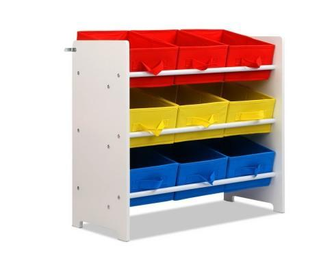 9 Bin Kids Wooden Toy Storage Unit