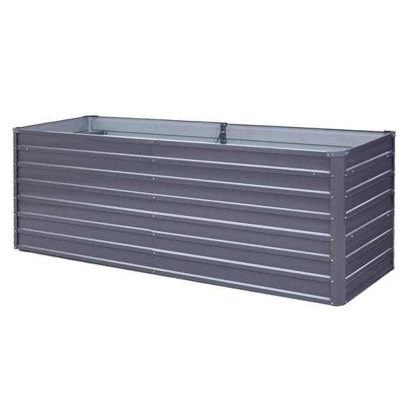 Raised Garden Bed Grey 240 x 80 x 77