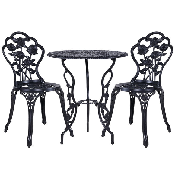 3 Piece Victorian Outdoor Set with Rose Detail