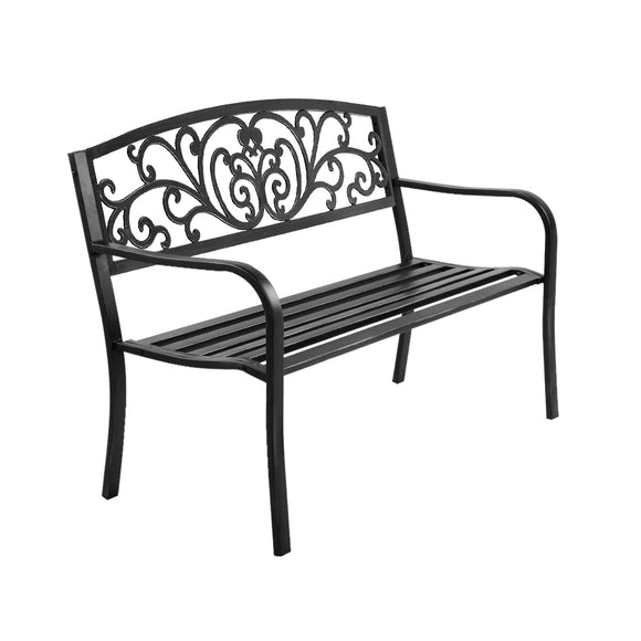 Cast Iron Garden Bench Black
