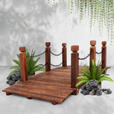 Rustic Wooden Garden Chain Bridge