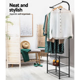 Modern Metal Shoe Rack and Clothes Hanger