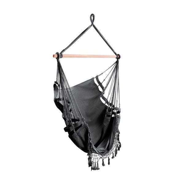 💎 Hammock Chair with Tassels Grey