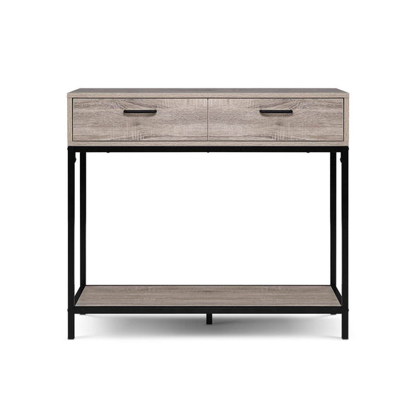 Industrial Hallway Console Table Oak