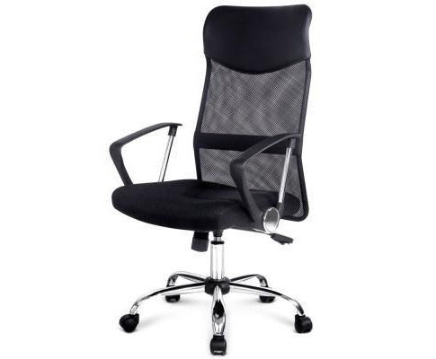 Modern Mesh High Back Office Chair PU Leather