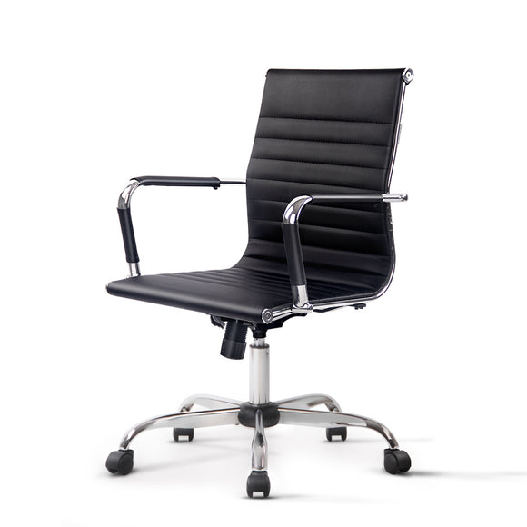 Contemporary Black Mid Back Office Chair