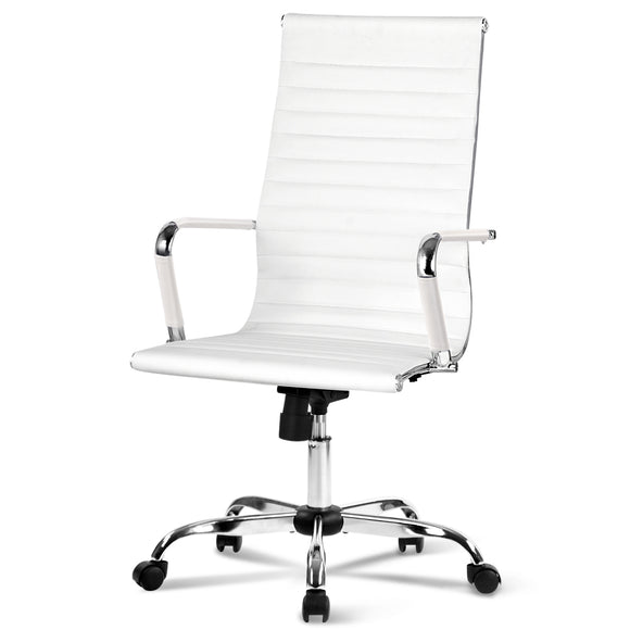 Contemporary White High Back Office Chair