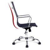 'Eames' Style Mesh Reclining Office Armchair